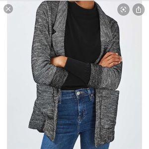 TOPSHOP Boucle Jersey Boyfriend Blazer sweater